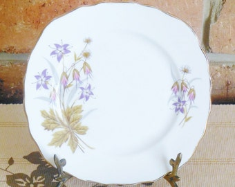 Colclough side, butter, bread plate, floral spray motif, 16cm mid century, vintage high tea