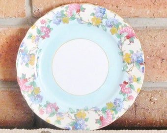 Aynsley bone china vintage 1930s replacement side plate, cake plate, bread plate; floral design, high tea
