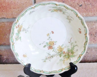 Johnson Brothers 1920s Old Chelsea china serving, soup, sweets bowl; rare pattern