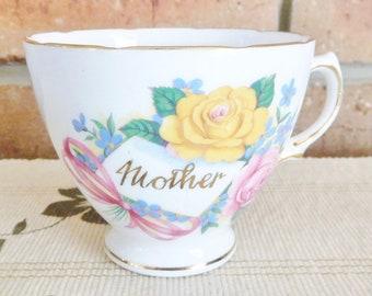Royal Vale fine bone china Mother orphan tea cup, vintage 1940s, gift idea