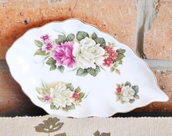 Shannon Rose of Taiwan fine bone china pin dish, butter dish or sweets dish; 1990s; gift idea