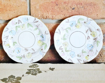 Radfords Fenton vintage 1940s bone china orphan saucers, replacement saucers, high tea stand-alone servers