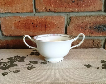 Wedgwood vintage 1970s twin handled sugar bowl, Art Deco style