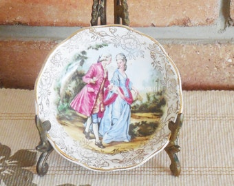 """James Kent Ltd Longton Made in England small pin or rings dish from the 1940s """"Romance"""" series"""