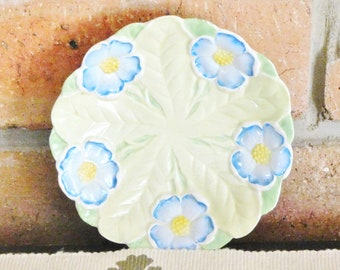 Shelley 1925 small collectible display plate, blue poppies, fine china, made in England