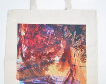 Limited Edition Tote Bag from original mixed media drawing by Anthony Hughes