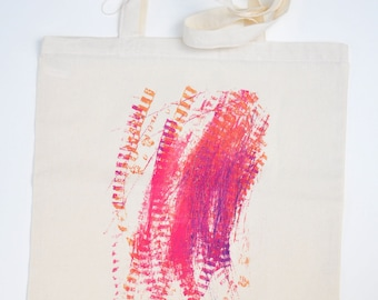 Limited Edition Tote Bag from original mixed media drawing by Chris Leonard