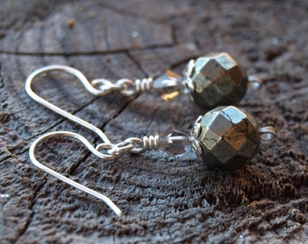 Pyrite//925 Sterling Silver Earrings