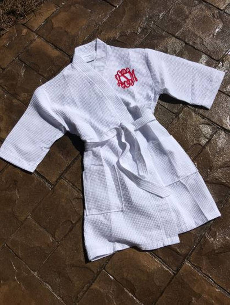 Embroidered Luxury Waffle Robe Dressing Gown Any name embroidered