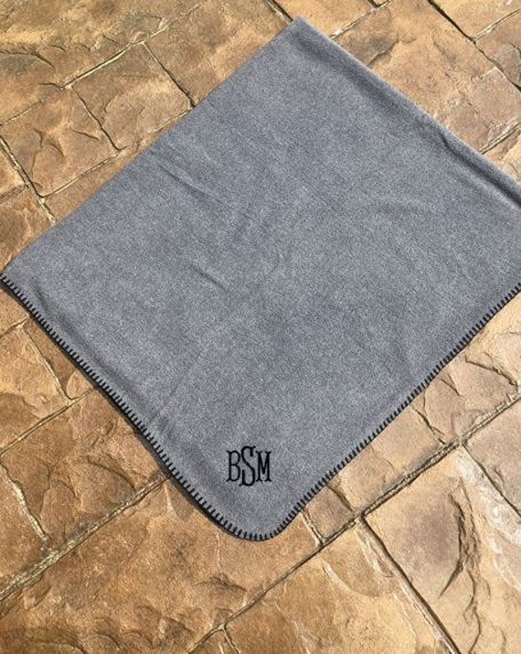 Fleece Blanket Personalized Monogrammed Embroidered  fcfab7924
