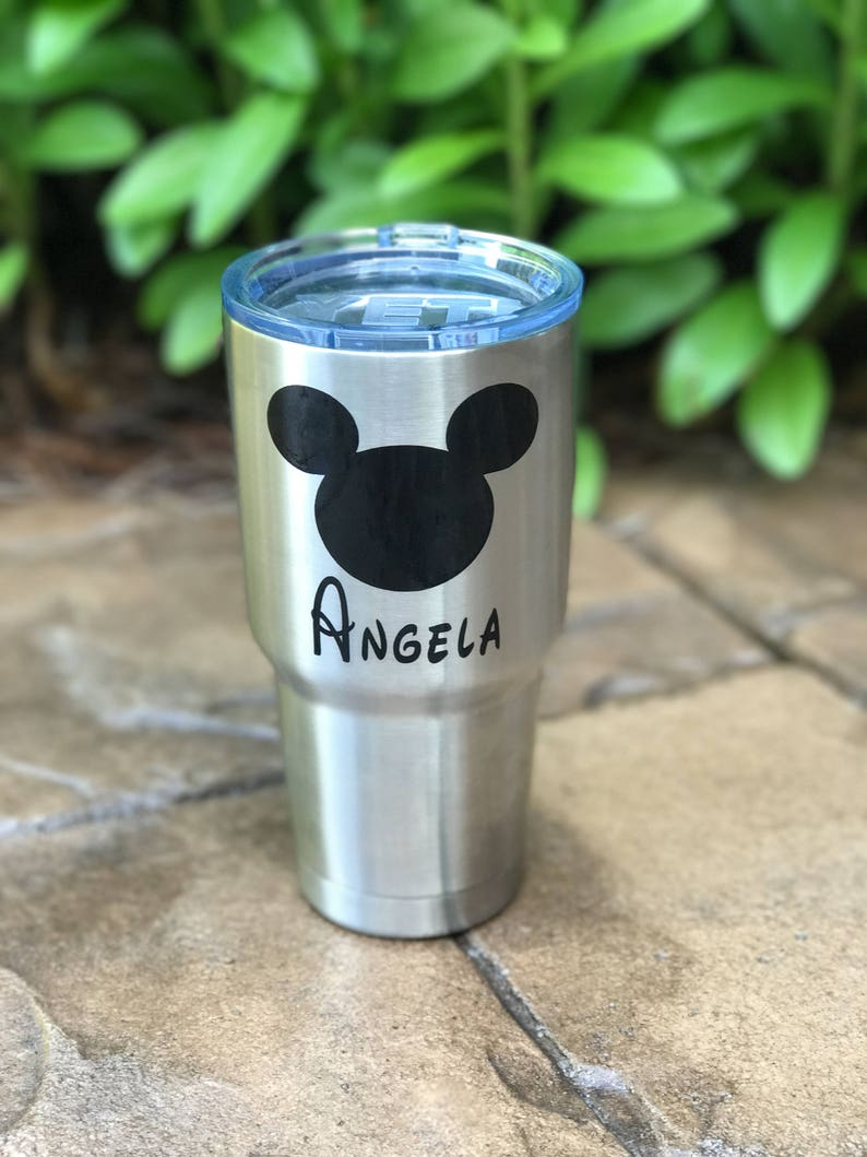 48972d1ba26 Disney Yeti Cup personalized Decal water bottle monogram   Etsy