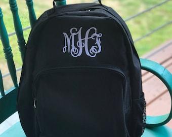 Monogram Backpack- Personalized backpack - Monogrammed backpack - laptop case- Black, Red, or Navy Blue