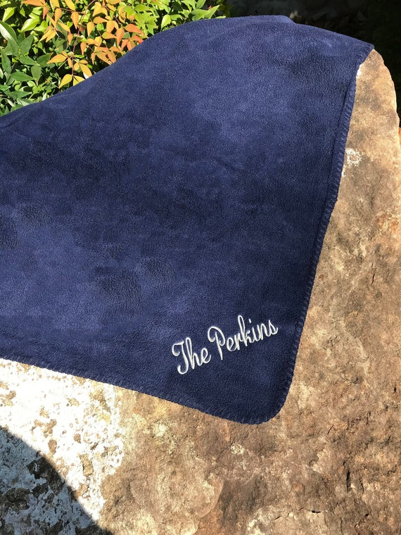 Personalized Blanket Last Name Custom Embroidered House  756edaa7a