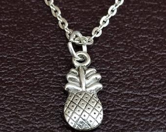 Pineapple Necklace, Pineapple Charm, Pineapple Pendant, Pineapple Jewelry, Pineapple Girls, Pine Apple Necklace, Pine Apple Jewelry, Fruits
