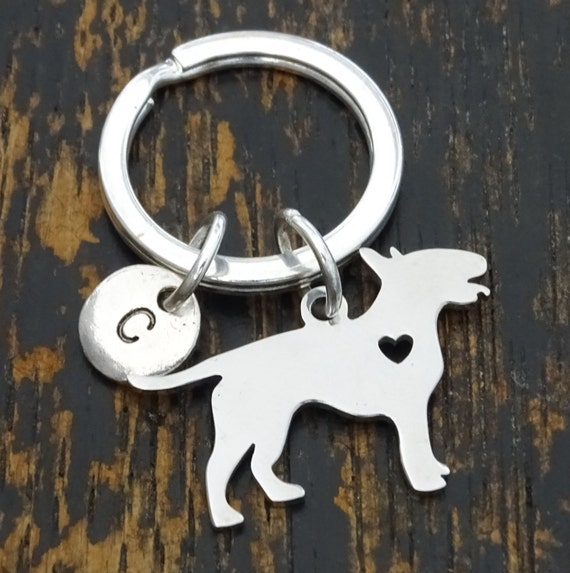Bull Terrier Keychain Custom Keychain Custom Key Ring Bull  ec5dad55d491