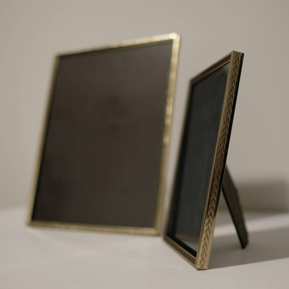 Set Of 2 Vintage Gold Embossed Metal Table Top Frames 8x10 And Etsy