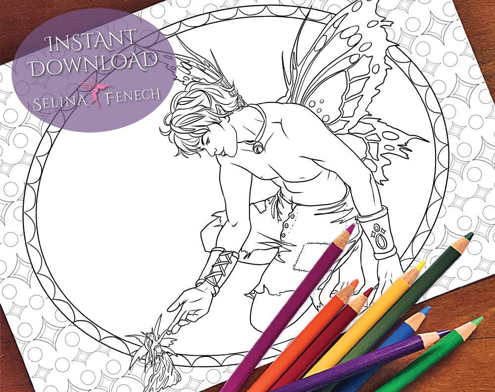 Fairy Prince and Fairy Queen Coloring Page/Digi Stamp ...