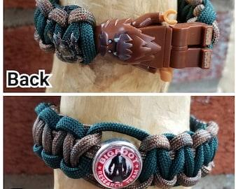 Bigfoot brick figure bracelet