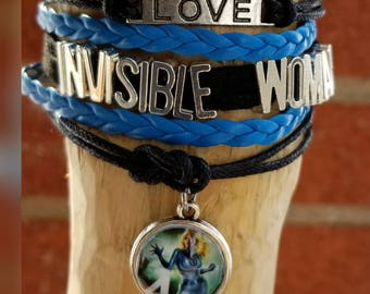 Infinity love invisible Woman bracelet