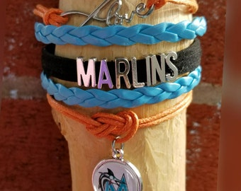 Infinity Love Florida Marlins bracelet
