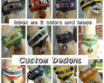 Custom infinity Love bracelets