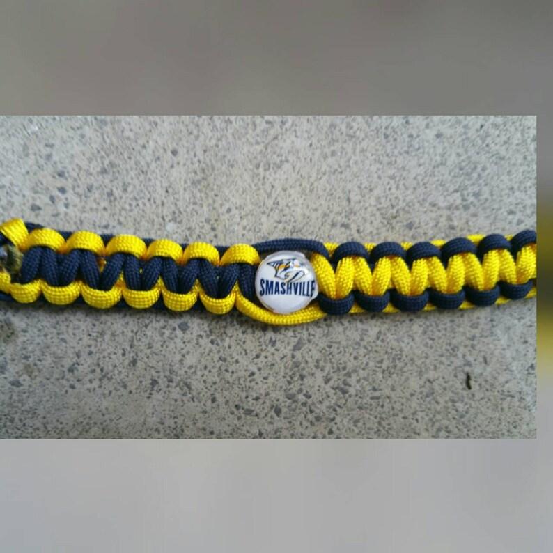Nashville Predators paracord bracelet your choice of image