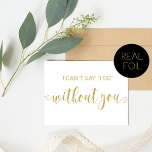 Wedding Card To My Cousin On My Wedding Day Wedding Greeting Cards Bride and Groom Cards Card Gold Cards Wedding Cards Real Foil