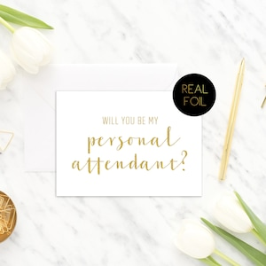 Greeting Cards Real Foil Bride and Groom Cards Gold Cards Wedding Cards Will You Be My Junior Bridesmaid Wedding Card Real Foil Card