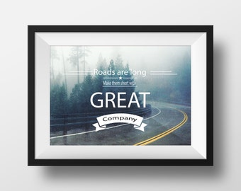 Home Decor Motivational Typography Print Wall Art inspirational quote Giclée Print