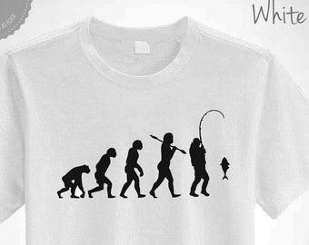 e1c72c910 Fishing T-Shirt Evolution of Man Bait & Tackle Unisex Top