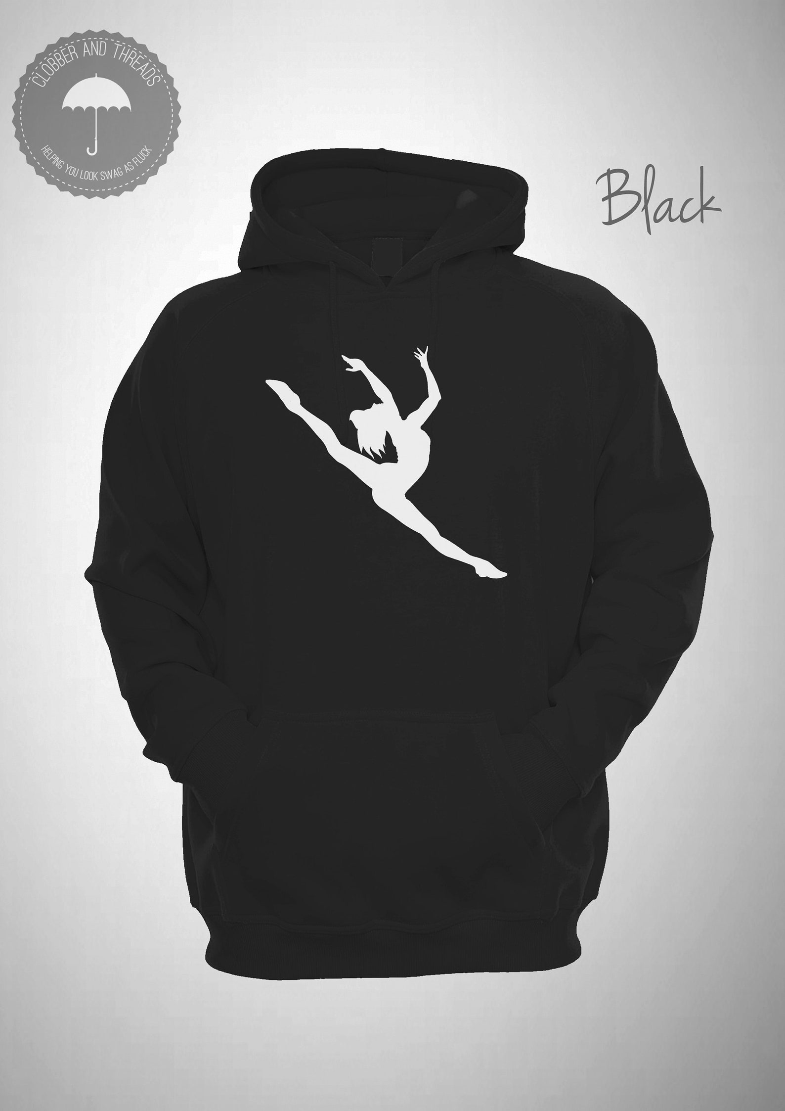 ballet dancer hooded sweatshirt dancing hoodie