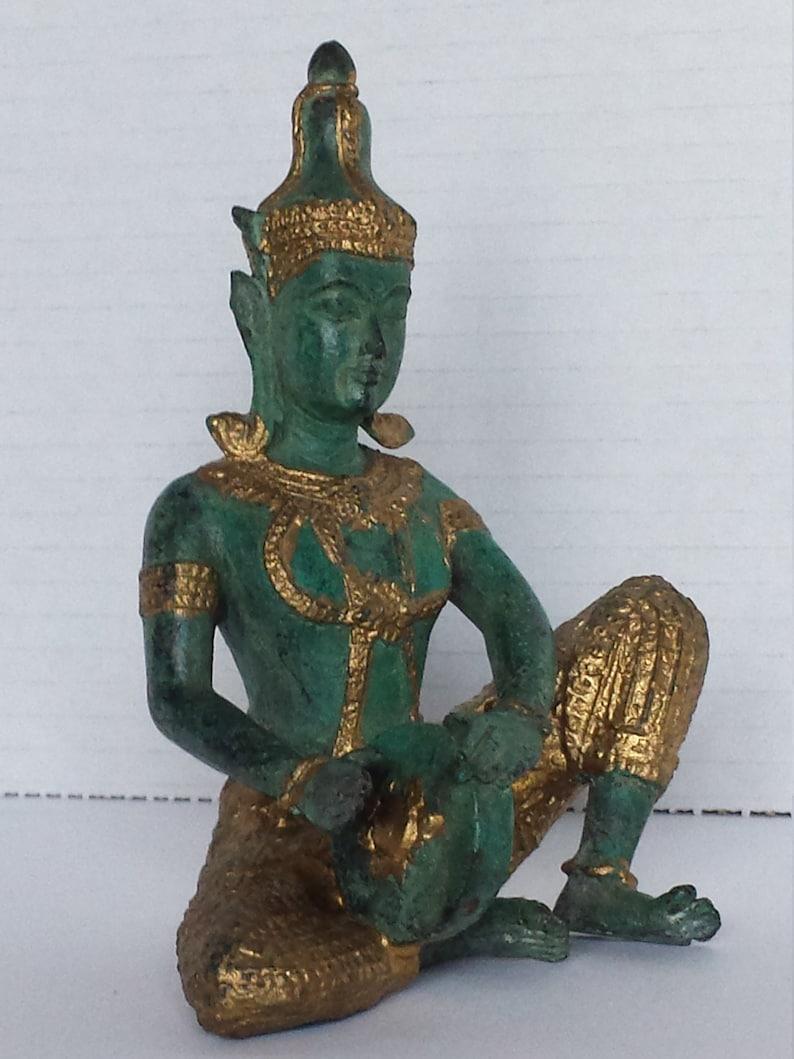Brass Bronze Gilt Metal Statue Playing Drum Thai Prince Musician  Figurine