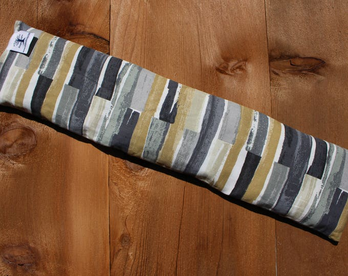 Extra Long Corn Bag - Earth Tile - Hot and Cold Therapy, Moist Heat, Natural Pain Relief, Gifts for All Ages, Heating Pad