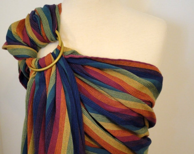 Ring sling Lenny Lamb Cotton/Bamboo woven wrap conversion - Paradiso - WCRS