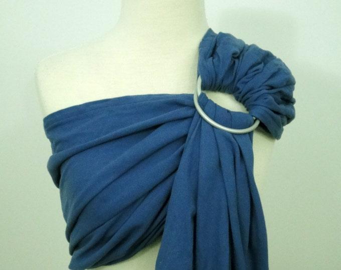 Broken twill ring sling - 100% organic cotton- Denim blue