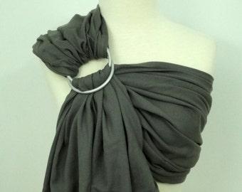 Woven ring sling - 100% organic cotton- Paris grey