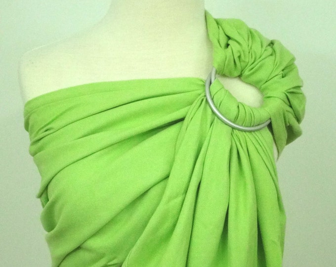 Woven ring sling - 100% organic cotton- Apple green, anise green, lime.