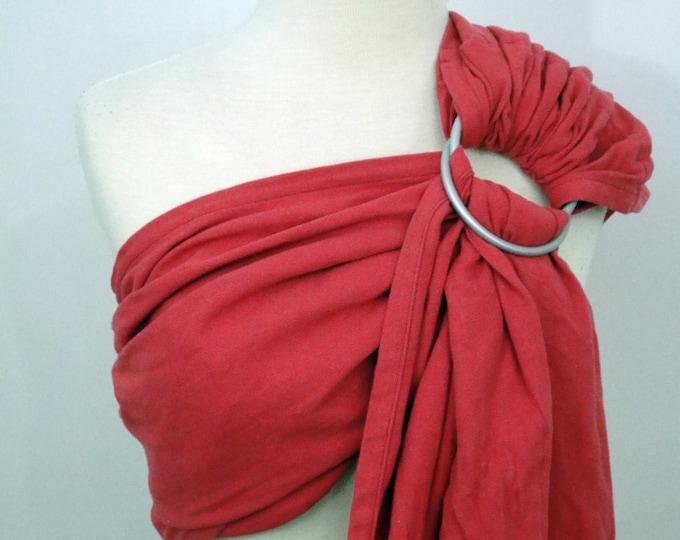 Broken twill ring sling - 100% organic cotton- Raspberry