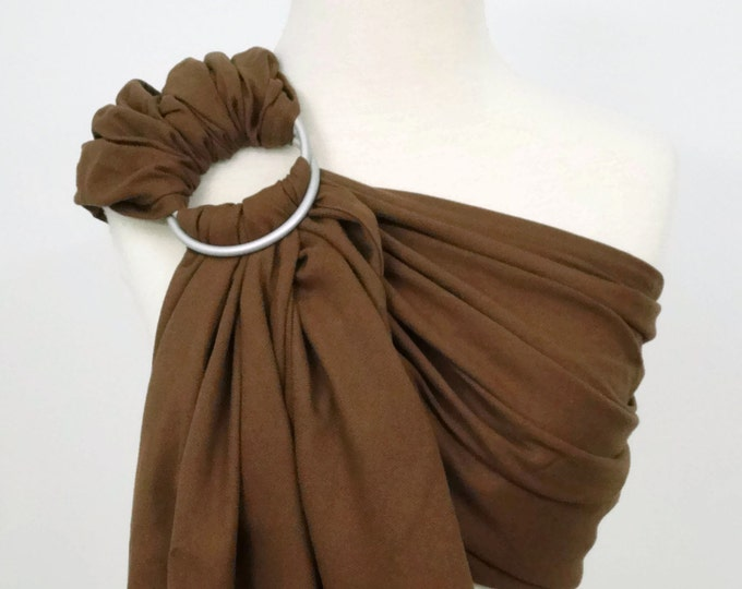 Woven ring sling - 100% organic cotton- Chocolate brown