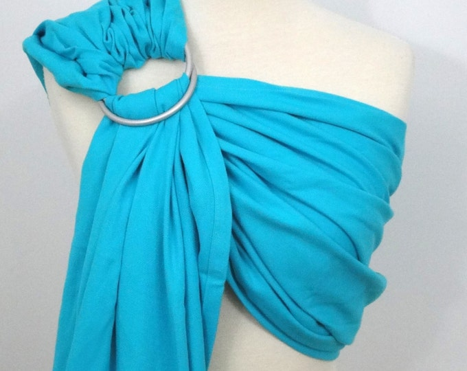 Woven wrap ring sling - 100% organic cotton- Turquoise