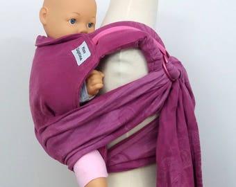 Wrap conversion reverse rings onbu - Natibaby Vivre Majesty Rosa - Cotton/Linen - pink, fuschia, natty