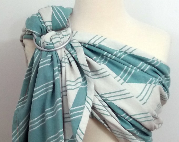 Tekhni wrap conversion ring sling- Pragma Jade - WCRS, ivory, white, blue green, turquoise
