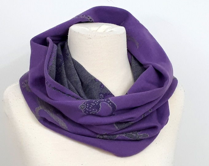 Wrap conversion winter cowl / neck warmer / snood -- Didymos Gecko