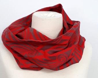 Col   foulard tube   cache-cou   snood - retaille d écharpe. Yaro Dandy  Corail Grey Cachemire 789992a0946