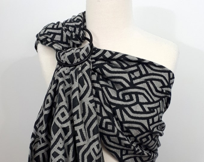 Yaro - Braid Black - Natural Seacell conversion ring sling - WCRS