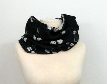 Wrap conversion winter cowl / neck warmer - Kokoro Mon Cheri Disco