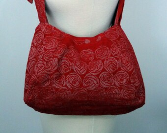 Wrap conversion babywearing bag - Oscha Roses Aphrodite - white, red, passion red