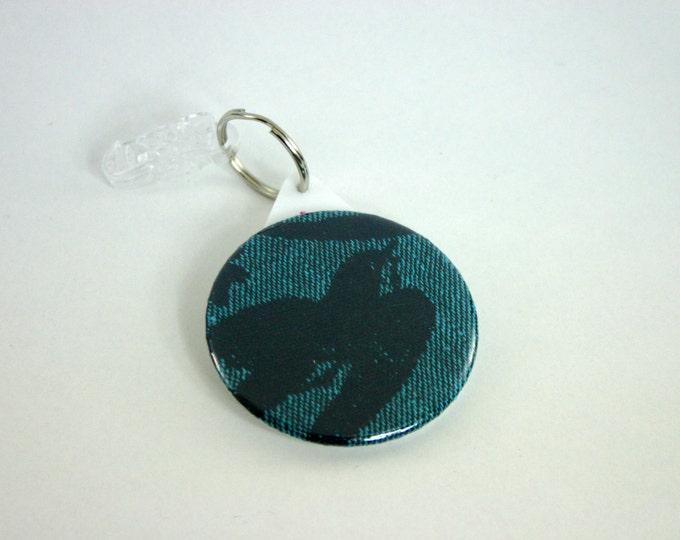 Babywearing mirror / Natibaby Aila Teal wrap / pocket mirror / key ring