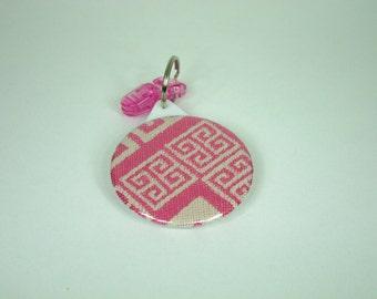Babywearing mirror / Tekhni Meandros Candy wrap / pocket mirror / key ring