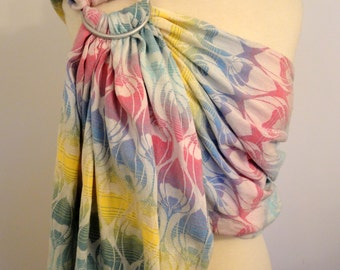 Wrap conversion ring sling - Yaro La Fleur Summer Rainbow - 100% Cotton - WCRS